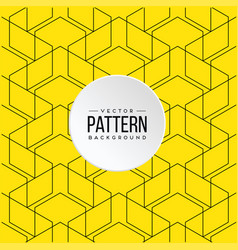 Pattern yellow geometry background image vector