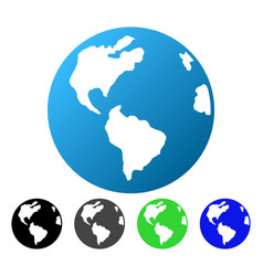 Planet earth flat gradient icon vector
