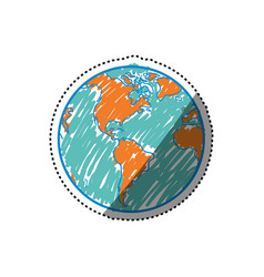 planet earth geography vector image
