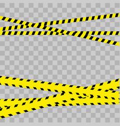 police line set danger vector image