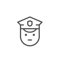 policeman line icon vector image