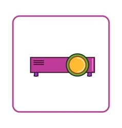 Projector icon simple style vector image