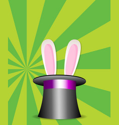 Rabbit ears appear from the magic cylinder vector