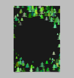 random seasonal pine tree design brochure vector image