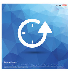Repeat clock icon vector
