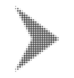 right direction halftone dotted icon vector image