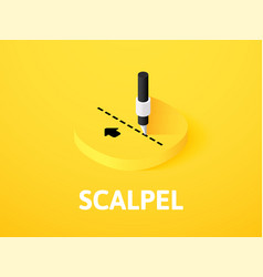 scalpel isometric icon isolated on color vector image
