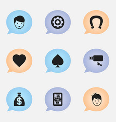 Set of 9 editable excitement icons includes vector