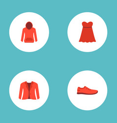 set of dress icons flat style symbols with vector image