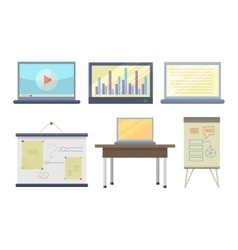 Set tools for seminar and lecture vector