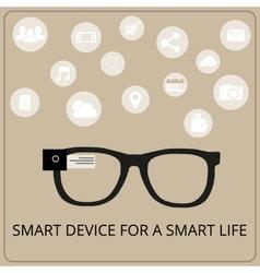 Smart glasses vector image