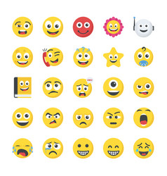 Smiley flat icons vector