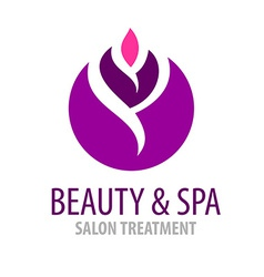 Spa treatment salon logo template vector image