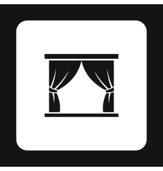 Stage curtains icon simple style vector image