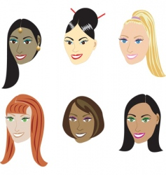 Straight hairstyles vector