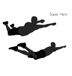 Super Hero pose on white background vector image