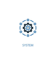 System concept 2 colored icon simple blue element vector