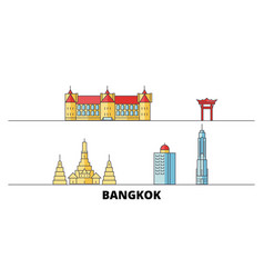 thailand bangkok city flat landmarks vector image