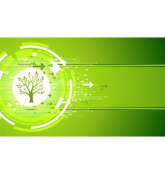Tree and Arrows vector image