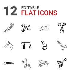 trim icons vector image