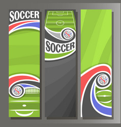 Vertical banners for soccer vector