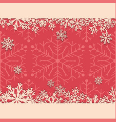 vintage christmas background with snowflakes vector image