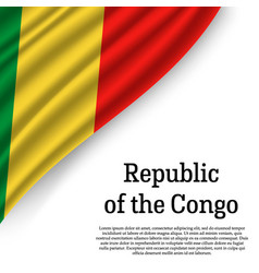 waving flag of republic of the congo vector image