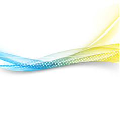 modern bright swoosh line border layout vector image vector image