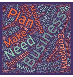 Reasons Why You Need A Business Plan text vector image