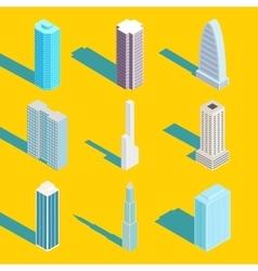Skyscrapers isometric city buildings vector image