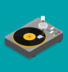 vinyl player isometric flat vector image