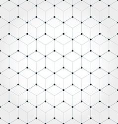 Abstract geometric hexagonal background vector image