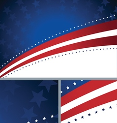 American Patriotic Abstract Holiday Background vector image