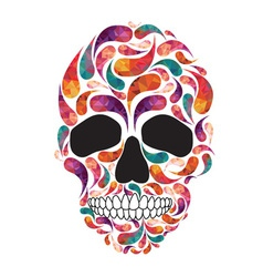 music fan skull vector image