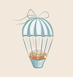 parachute muffin vector image