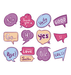 sketch doodle speech bubble with vector image vector image