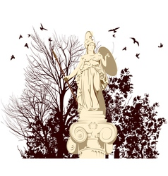 beauty Athena statue vector image