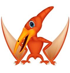 Cute pterodaytyl cartoon vector image vector image