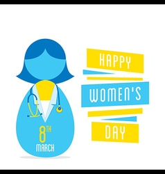 happy womens day women doctor profession design vector image vector image