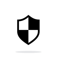 Protection icon on white background vector image vector image