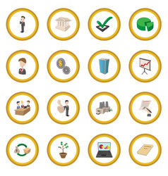 Business icon circle vector