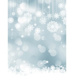 elegant christmas silver vector image vector image