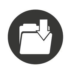 folder data document icon vector image