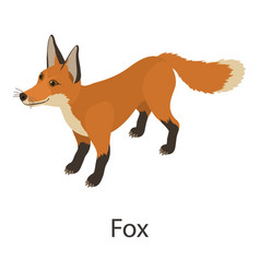 fox icon isometric style vector image vector image