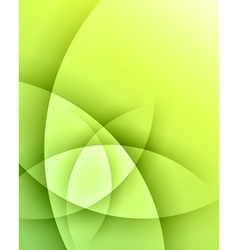Green smooth light lines background vector image vector image