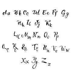 handwritten lettering font aphabet vector image