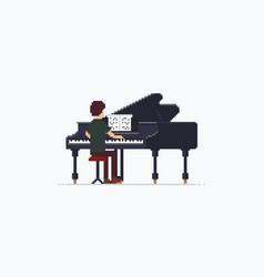 pixel art grand piano vector image vector image