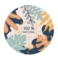 100 percent natural colorful social media banner vector