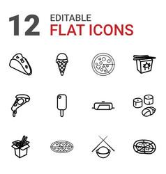 12 cuisine icons vector