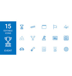 15 event icons vector image